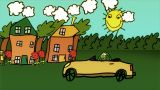 Car Toon stock footage