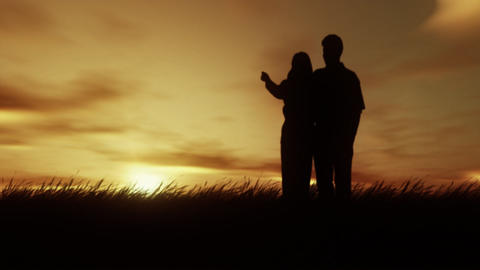 Sunset Lovers Stock Video Footage