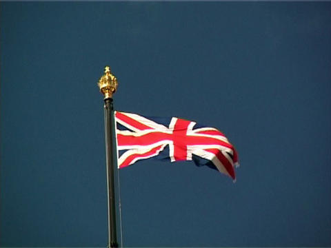 Union Jack Blue Stock Video Footage