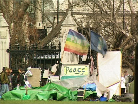Peace Demonstration Stock Video Footage