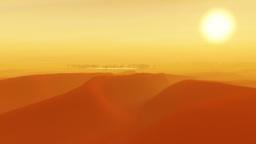 1091b Sahara Dunes Sand Storm Sunset Stock Video Footage