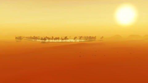 1091b Sahara Dunes Sand Storm Sunset Animation