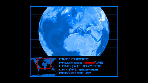 Earth Tracking System - Euro 2 Animation