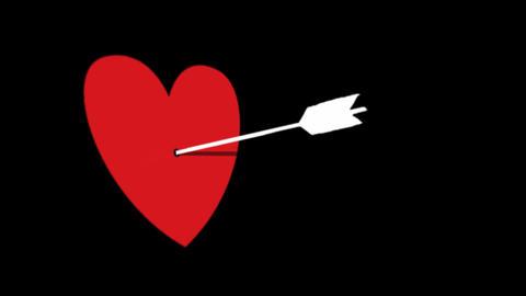 Heart Hit Stock Video Footage