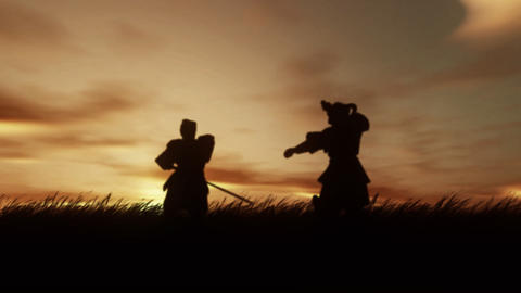 Samurai Warriors Stock Video Footage