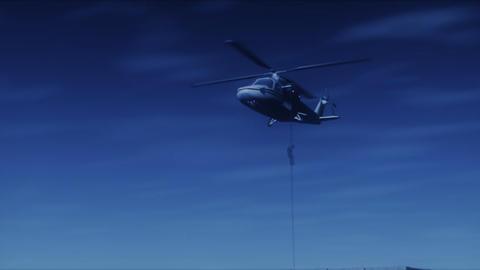 SWAT Night Drop (NTSCW) Stock Video Footage