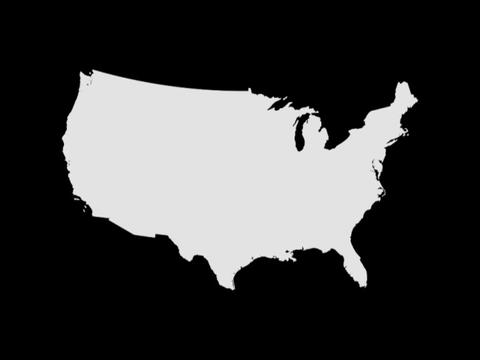 USA Map Stock Video Footage