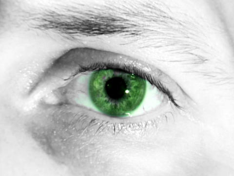 Green Eye Stock Video Footage