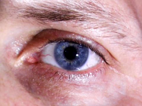 Natural Blue Eye Stock Video Footage