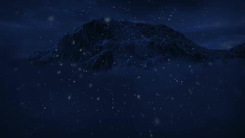 1045 Night Snow Mountain Wilderness Winter Storm Stock Video Footage