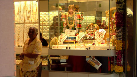 Indian Jeweller Stock Video Footage
