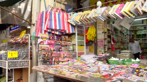 Little India Magazine Shop Stock Video Footage