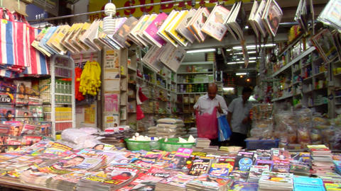 Little India Magazine Shop Stock Video Footage