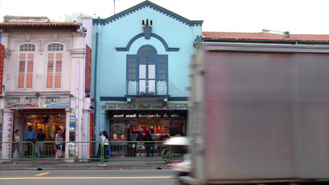 Little India Shops Stock Video Footage