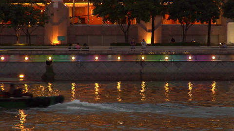 Singapore Bumboat Stock Video Footage