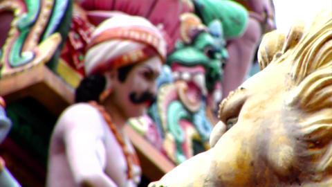 Sri Mariamman Temple CU Focus Stock Video Footage