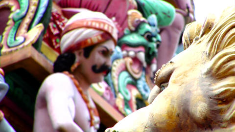 Sri Mariamman Temple CU Focus Footage