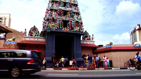 Sri Mariamman Temple Tilt Up Footage