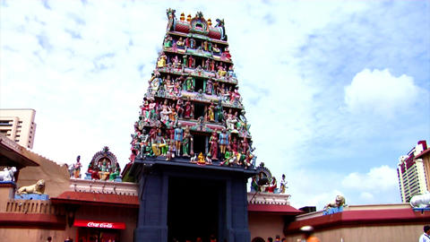 Sri Mariamman Temple Tilt Up Stock Video Footage