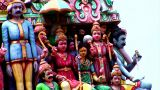 Hindu Gods Of Sri Mariamman Temple stock footage