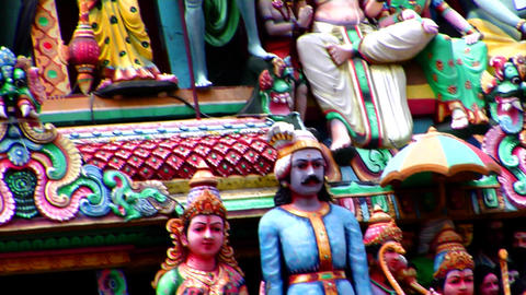 Hindu Gods Of Sri Mariamman Temple Footage