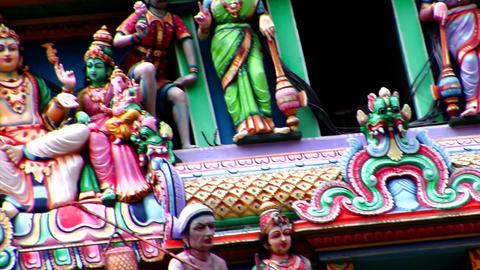 Hindu Gods Of Sri Mariamman Temple Stock Video Footage