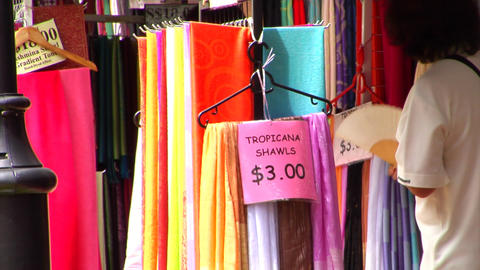 Shawls At Singapore Kampong Glam Footage