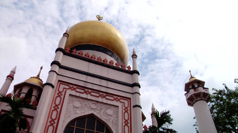 Singapore Sultan Mosque Building Footage