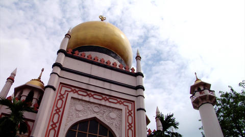 Singapore Sultan Mosque Building Stock Video Footage