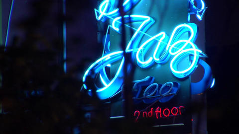 Singapore Jazz Bar Signage Stock Video Footage