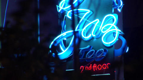 Singapore Jazz Bar Signage Footage
