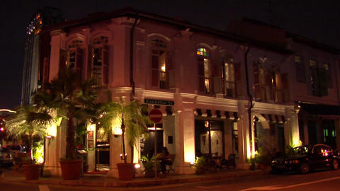 Singapore Shophouse At Kampong Glam Stock Video Footage