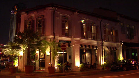 Singapore Shophouse At Kampong Glam Footage