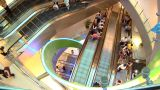 Singapore Shopping Centre Escalators stock footage