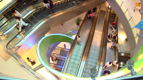 Singapore Shopping Centre Escalators Footage