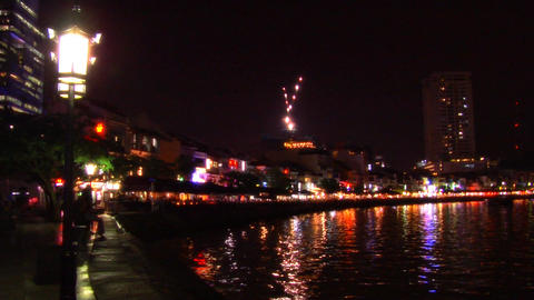 Singapore River, Boat Quay Stock Video Footage