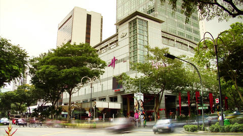 Singapore Youths At Orchard Road Stock Video Footage