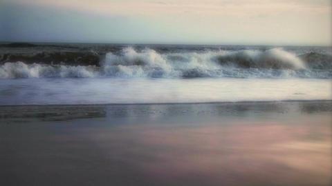 (1007) Beach Sunrise Surf Stock Video Footage