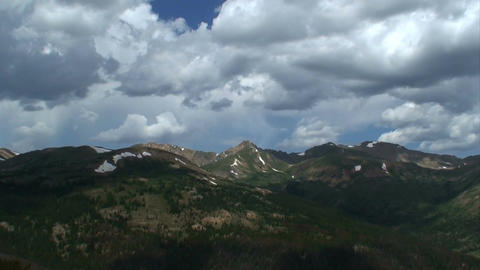 (1015) Mountain Wilderness Summer Rain Storm Time Lapse Stock Video Footage
