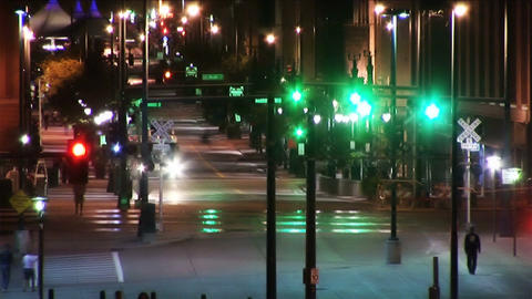 (1025) City Nightlife Traffic Time Lapse Stock Video Footage