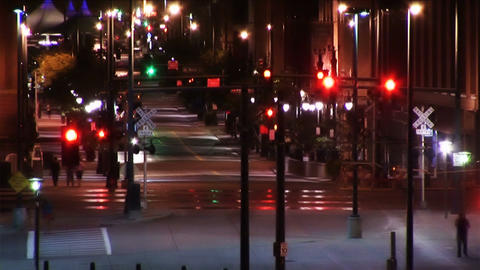 (1025) City Nightlife Traffic Time Lapse Footage
