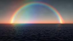 (1028) Rainbow Ocean Sunset Stock Video Footage