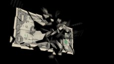 Exploding Dollar 539 stock footage