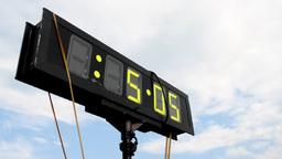 Race Clock 528 Stock Video Footage