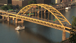 Fort Pitt Bridge 517 Stock Video Footage