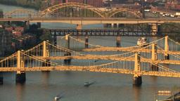 Three Sisters Bridges 521 Stock Video Footage