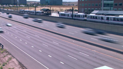 1021 City Commuter Traffic Highway Rush Hour Stock Video Footage
