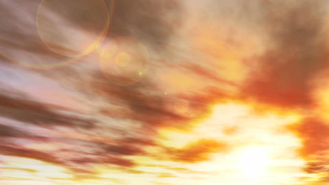 1041 Dramatic Sunset Sky Cloudscape Animation