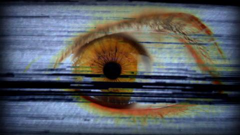 big_eye01 Stock Video Footage