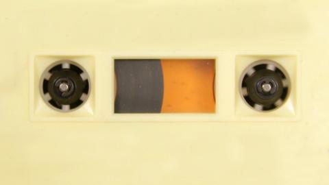 cassette_rwd01 Stock Video Footage